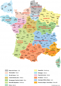 Regions In France Map.New Regions Of France With Clear Map Of Departments France Directory