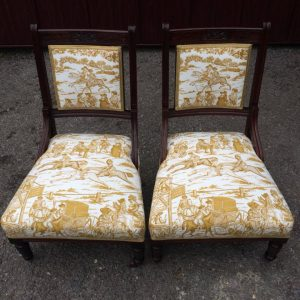 Pair small chairs JP Baker